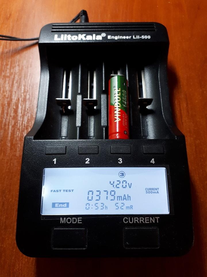 аккумулятор беспроводной мышки Liitokala lii 500