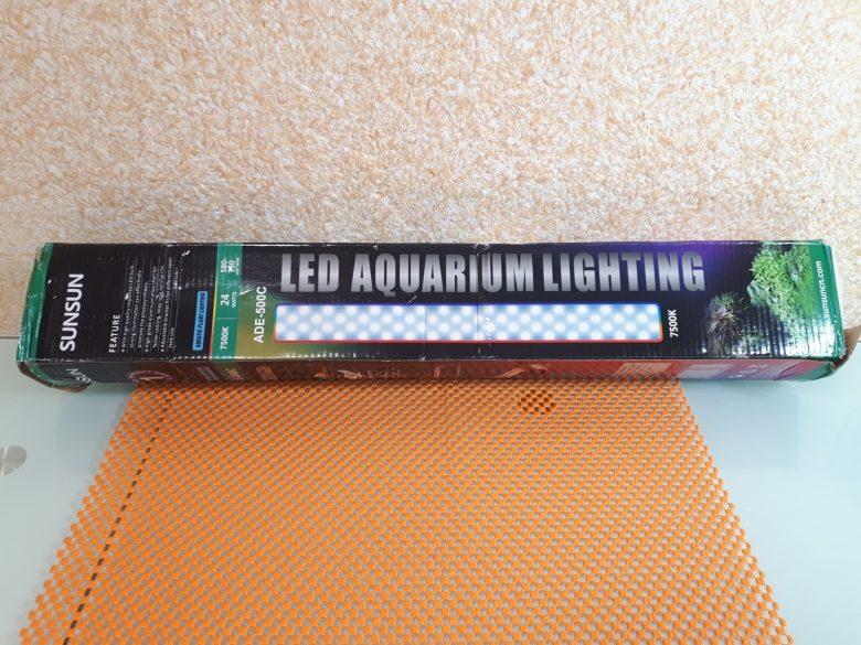 Упаковка светильника для аквариумов ADE 500C